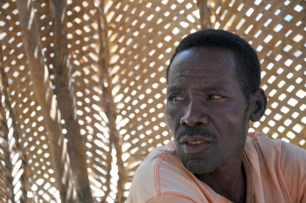 man in haitian village