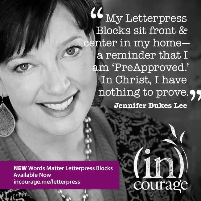 letterpress blocks, incourage, jennifer dukes lee, incourage