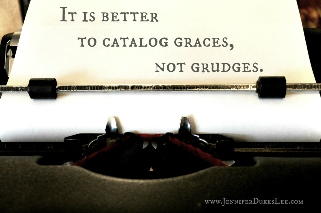 grudges, graces, typewriter