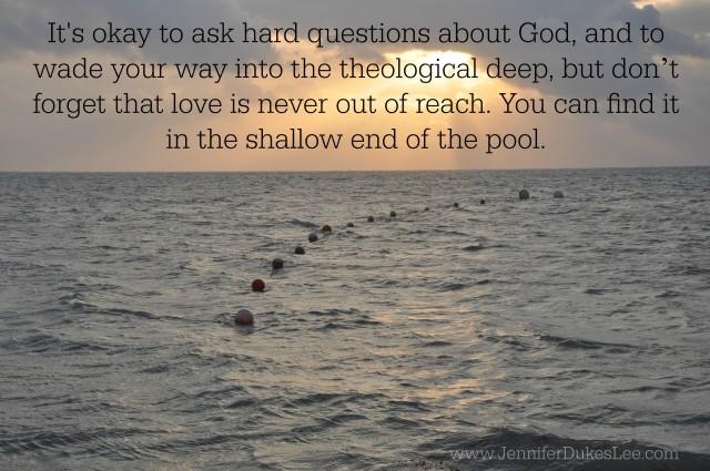 ocean deep, theology