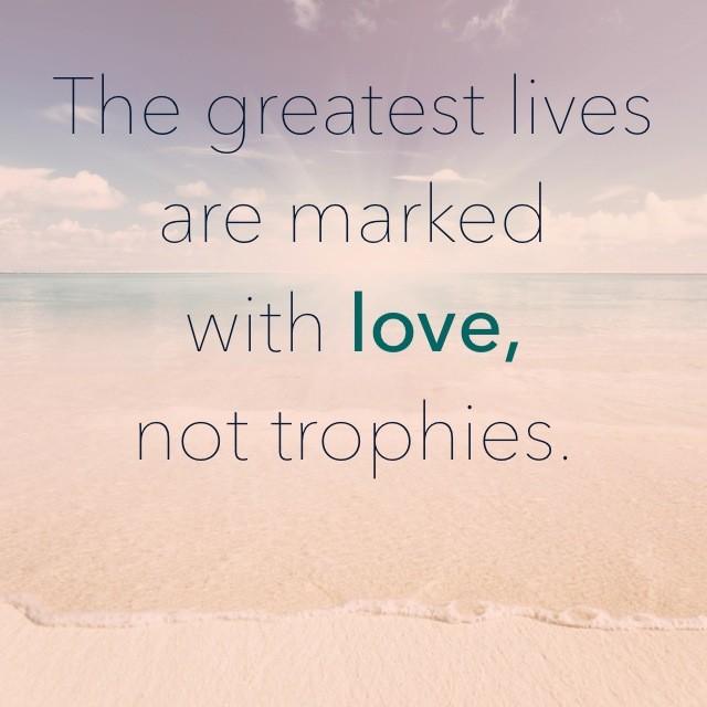love, trophies