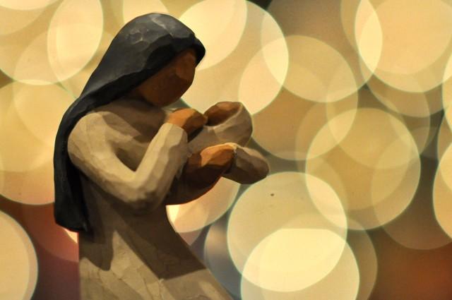mary, jesus, christmas, willow tree