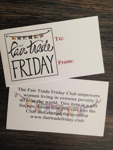 fair trade friday gift tags