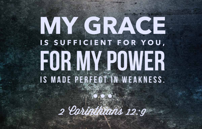grace, sufficient grace
