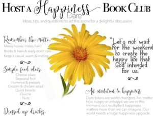 Host a happiness Dare Book Club