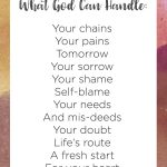 Free printable: what God *can* handle!