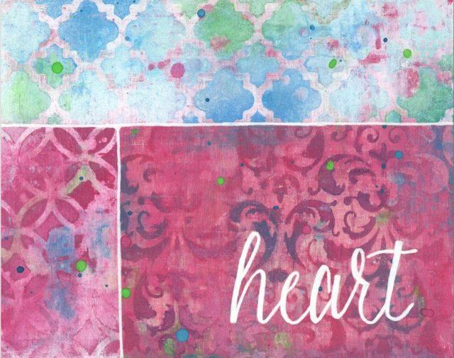 Heart art print from original painting by StudioJRU.