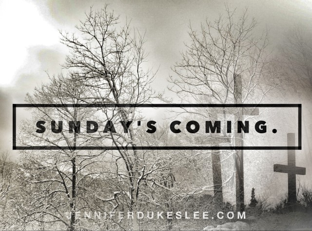 Sundays coming, east