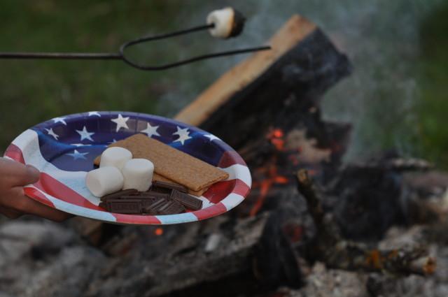 smores, campfire