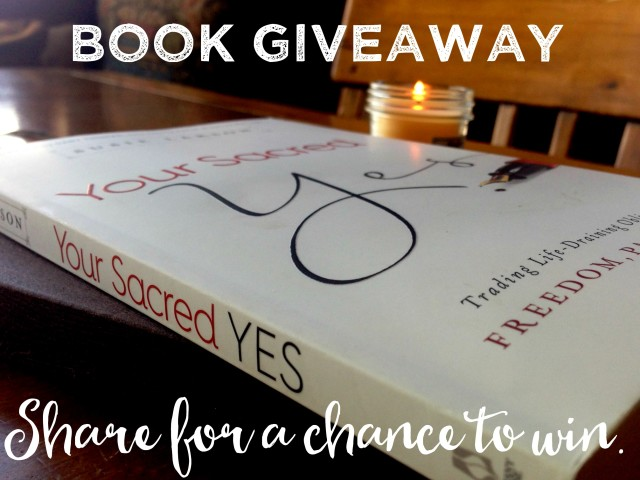 giveaway, Your Sacred Yes, Susie Larson
