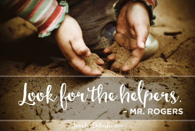 look for the helpers, mister rogers