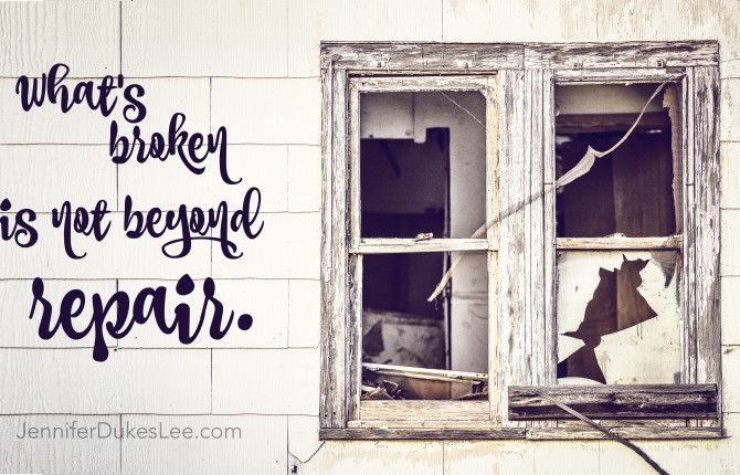 What's Broken is Not Beyond Repair -- #TellHisStory