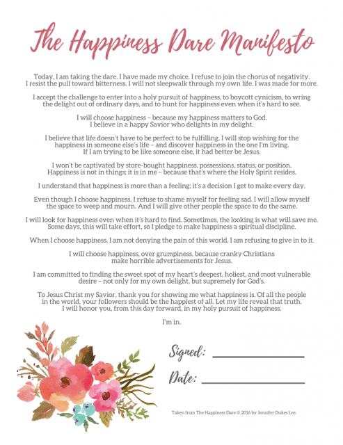 The Happiness Dare Manifesto