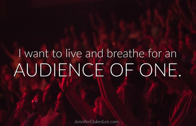 On Learning to Live For An Audience of One