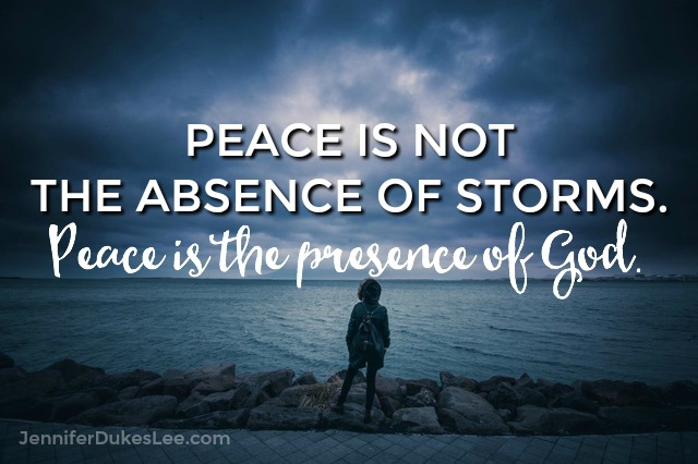 peace, storms, presence of God