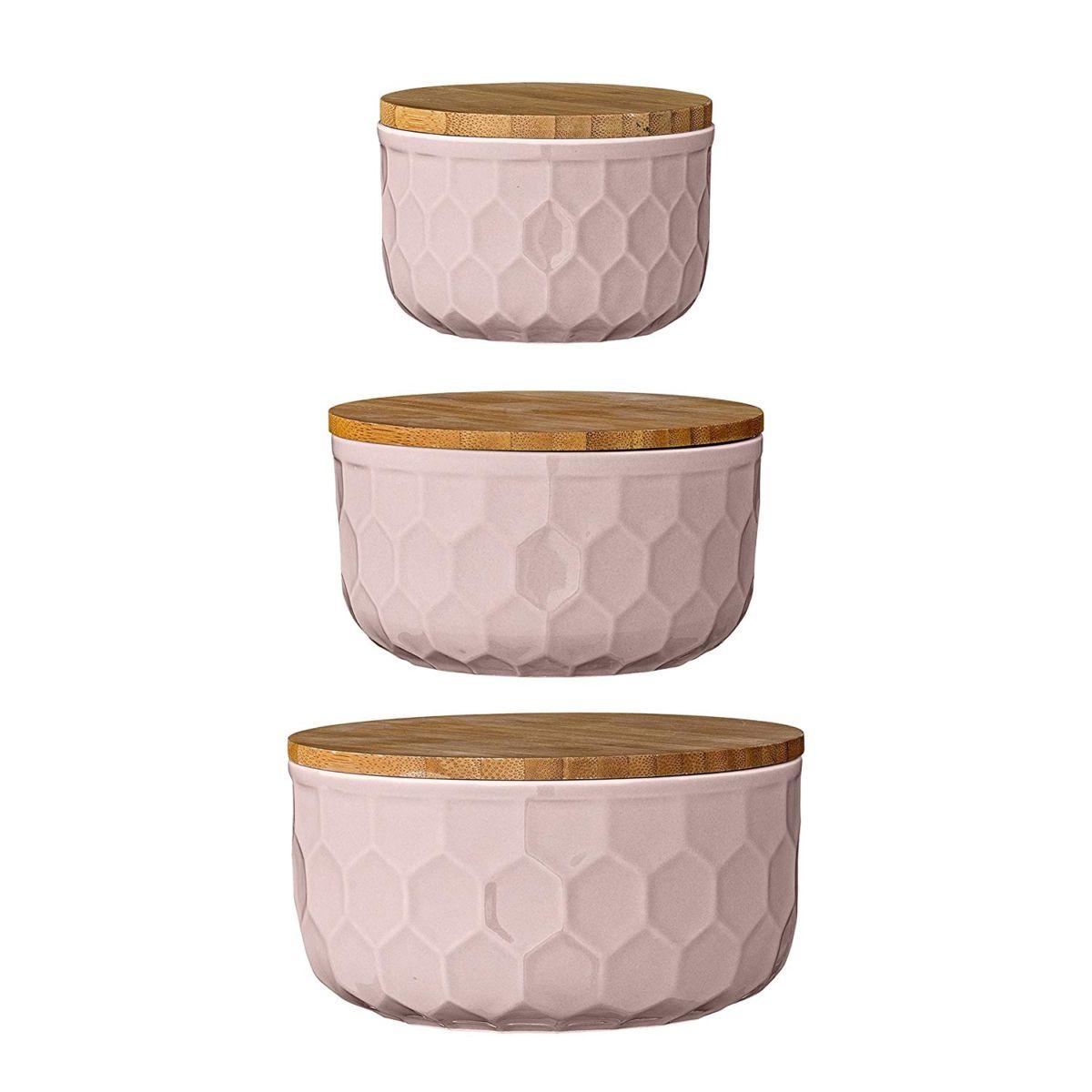 Pink Stoneware Bowls